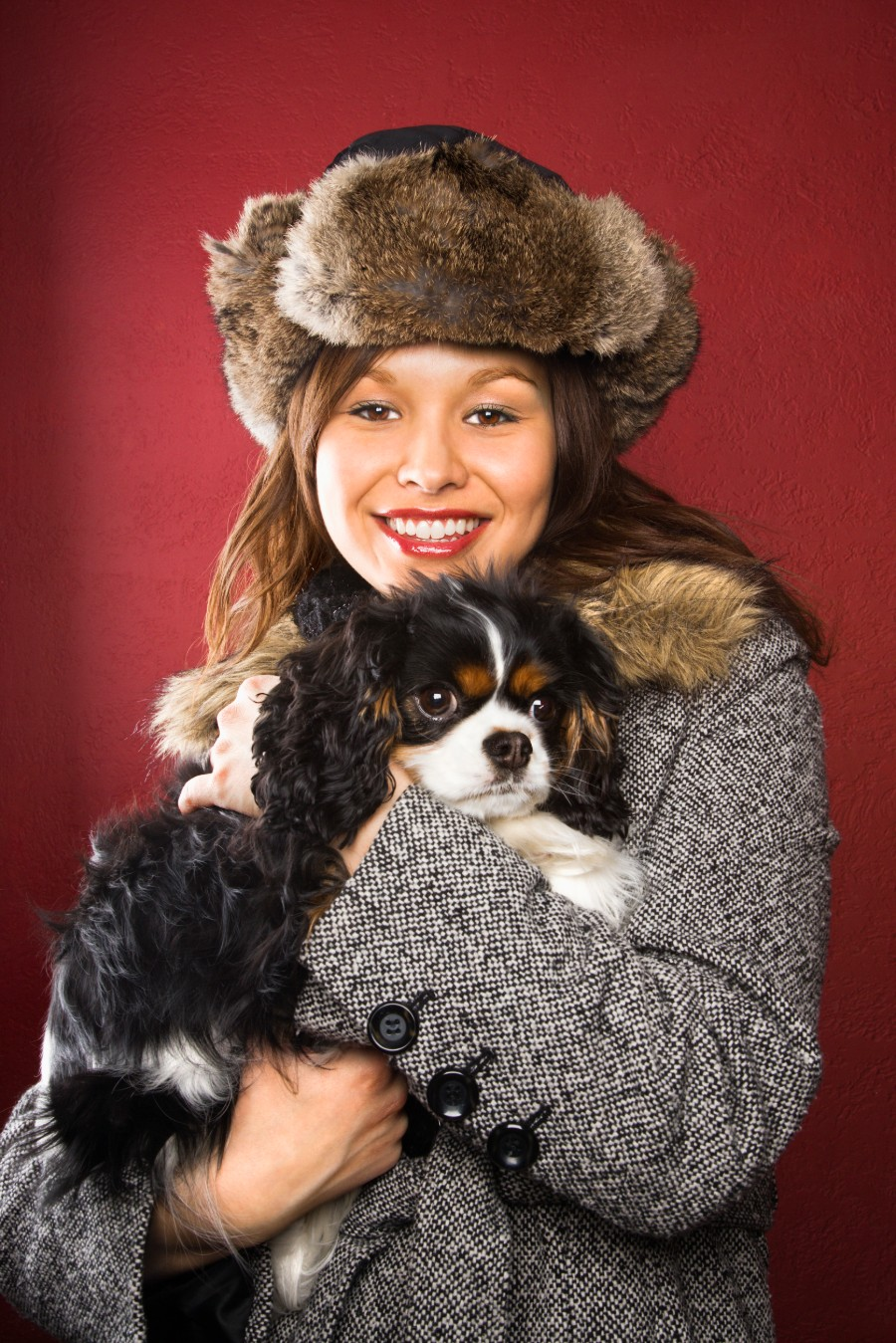 Cavalier King Charles Spaniel and college student